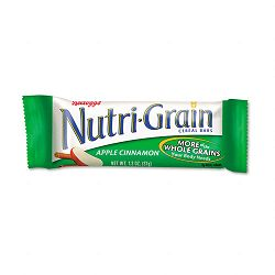 Nutri-Grain Cereal Bars Apple-CinnamonIndividually Wrapped 1.3oz Bar Box of 16 Bars (KEB35645)
