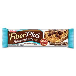 FiberPlus Bars with Antioxidants Chocolate Chip 1 15 oz. Bar Box of 6 Bars (KEB48722)