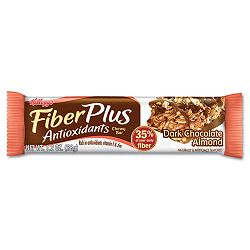 FiberPlus Bars with Antioxidants Dark Chocolate Almond 1 15 oz. Bar Box of 6 Bars (KEB48724)