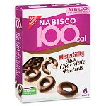 100 Calorie Mr. Salty Milk Chocolate Covered Pretzels 3.25 oz Box of 6 Packs (NFG001732)
