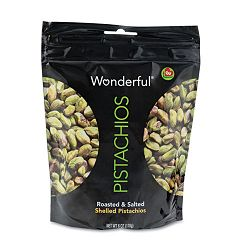 Wonderful Shelled Pistachios Roasted & Salted 6 oz. Pack Box of 10 Packs (PAM070146W6)
