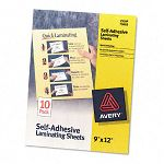 "Clear Self-Adhesive Laminating Sheets 3 mil 9"" x 12"" 10Pack (AVE73603)"