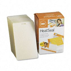 "HeatSeal LongLife Luggage Tag Laminating Pouches 10 mil 2-12"" x 4-14"" Box of 100 (GBC3202105)"
