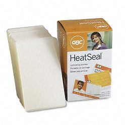 "HeatSeal Laminating Pouches 10 mil 2-316"" x 3-1116"" Business Card Size Pack of 100 (GBC3740412)"