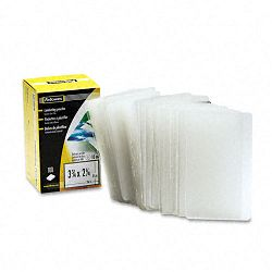 "Laminating Pouch 10 mil 2-14"" x 3-34"" Business Card Size Pack of 100 (FEL52058)"