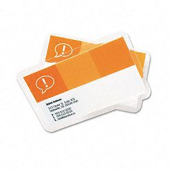 "HeatSeal Laminating Pouches 5 mil 2-316"" x 3-1116"" Business Card Size Pack of 25 (GBC3202000)"