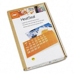 "HeatSeal Laminating Pouches 3 mil 9"" x 14-12"" Box of 100 (GBC3745011)"