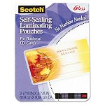 "Self-Sealing Laminating Pouches 9.5 mil 2-716"" x 3-78"" Business Card Size Pack of 25 (MMMLS851G)"