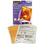 "Self-Sealing Laminating Sheets 9.5 mil 8-12"" x 11"" Pack of 25 (MMMLS85425M)"