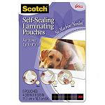 "Self-Sealing Laminating Pouches 9.5 mil 4-38"" x 6-38"" Photo Size Pack of 5 (MMMPL900G)"