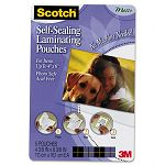 "Self-Sealing Laminating Pouches 9.5 mil 4"" x 6"" Photo Size Pack of 5 (MMMPL900M)"