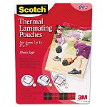 "Photo size thermal laminating pouches 5 mil 7 14"" x 5 38"" Pack of 20 (MMMTP590320)"