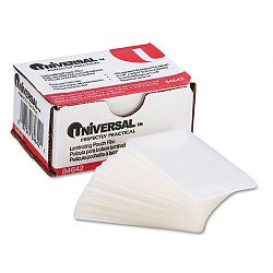 "Clear Laminating Pouches 5 mil 2-316"" x 3-1116"" Business Card Size Pack of 100 (UNV84642)"