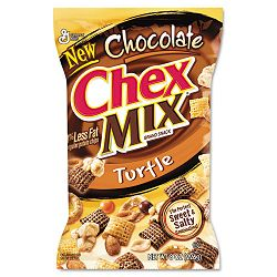 Chex Mix Chocolate Turtle 4.5 oz. Box of 7 Packs (AVTSN16794)