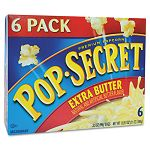 Microwave Popcorn Extra Butter 3.5 oz Bags Box of 6 Bags (DFD16680)