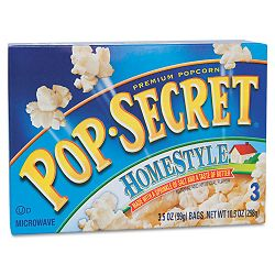 Microwave Popcorn Homestyle 3.5 oz Bags Box of 3 Bags (DFD24680)