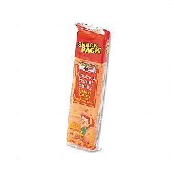 Sandwich Crackers Cheese & Peanut Butter 8-Piece Snack Pack Box of 12 Packs (KEB21165)