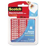 "Reusable Mounting Tabs 1"" x 1"" Clear Pack of 18 (MMMR100)"