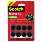 "Hook and Loop Fasteners 58"" Squares Black 24 Sets (MMMRF7061X)"