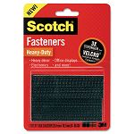 "Hook and Loop Fastener Tape 2"" x 3"" Black 2 Sets (MMMRFD7091)"
