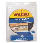 "Sticky-Back Hook and Loop Fastener Tape with Dispenser 34"" x 5 ft. Roll Black (VEK90086)"