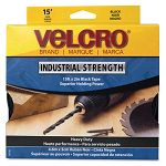 "Industrial Strength Sticky-Back Hook and Loop Fasteners 2"" x 15 ft. Roll Black (VEK90197)"