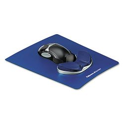 Memory Foam Gliding Palm Support with Mouse Pad Saphire (FEL9180201)