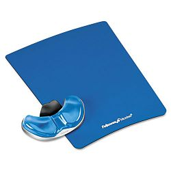 Gel Gliding Palm Support with Mouse Pad Blue (FEL9180601)