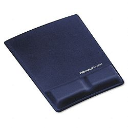 Memory Foam Wrist Support with Attached Mouse Pad Saphire (FEL9183901)