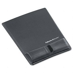 Memory Foam Wrist Support with Attached Mouse Pad Graphite (FEL9184001)