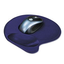 Wrist Pillow Extra-Cushioned Mouse Pad Nonskid Base 8 x 11 Blue (KMW57803)