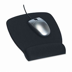 "Foam Mouse Pad with Wrist Rest Nonskid Base 6-34"" x 8-12"" Black (MMMMW209MB)"