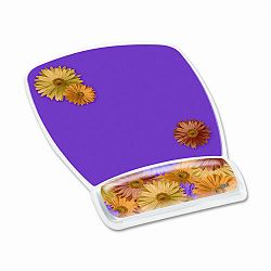 "Gel Mouse Pad with Wrist Rest Nonskid Plastic Base 6-34"" x 9-18"" Daisy Design (MMMMW308DS)"