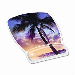 "Gel Mouse Pad with Wrist Rest Nonskid Plastic Base 6-34"" x 9-18"" Sunrise (MMMMW308SR)"