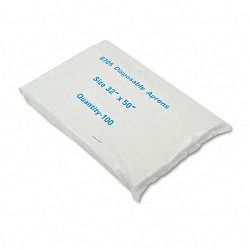 Disposable Apron Polypropylene White Pack of 100 (BWK390)