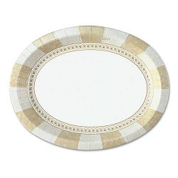"Sage Collection Oval Platters 8 12"" x 11"" Pack of 125 (DXESX11PLSAGE)"