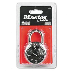 "Combination Lock Stainless Steel 1-78"" Wide Black Dial (MLK1500D)"