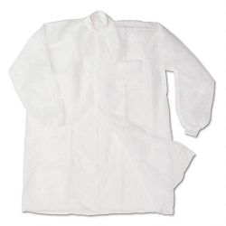 Disposable Lab Coats Spun-Bonded Polypropylene XL White Carton of 30 (IMP7385XL)