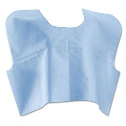 Disposable Patient Capes 3-Ply Tissue-Poly-Tissue Blue Carton of 100 (MIINON25249)