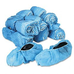 Disposable Shoe Covers Nonwoven Polypropylene Blue Carton of 150 Pair (UFS73532)