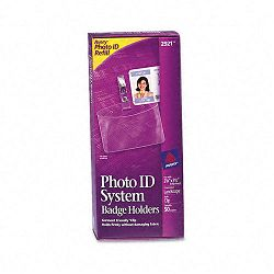 Photo ID Badge Holder Horizontal 2 14w x 3 12h Clear 50Box (AVE2921)
