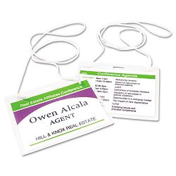 Neck Hanging-Style Flexible Badge Holders Top Load 3 x 4 White 100Box (AVE74459)