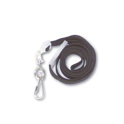 "Deluxe Safety Lanyards J-Hook Style 36"" Long Black 24Box (AVT75404)"
