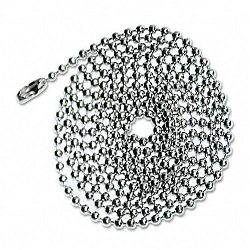 "ID Badge Holder Chain Ball Chain Connector Style 36"" Long Chrome 100Box (AVT75417)"