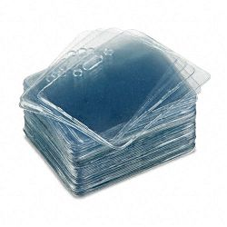 Proximity ID Badge Holder Horizontal 3 38w x 2 38h Clear 50Pack (AVT75450)