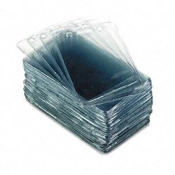 Proximity ID Badge Holder Vertical 2 38w x 3 38h Clear 50Pack (AVT75451)