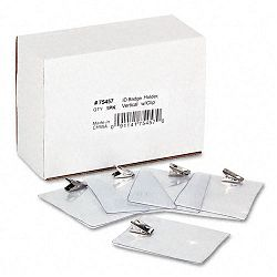 ID Badge Holder Vertical 3w x 4h Clear 50Pack (AVT75457)