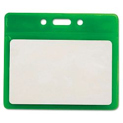 "Reflective Badge Holders Horizontal 3 12"" x 2 12"" Green 25Pack (AVT75561)"