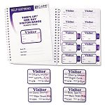 Time's Up Self-Expiring Visitor Badges with Registry Log 2 x 3 White 150Box (CLI97009)