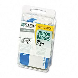 Self-Adhesive Name Badges 2 x 3-12 Blue 100Box (CLI92245)